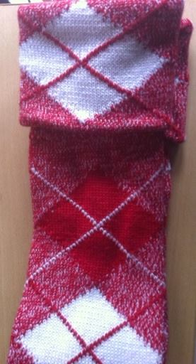 Knitting Pattern For Highland Dance Socks : Highland Dancing Hose (Socks) - Red - Small