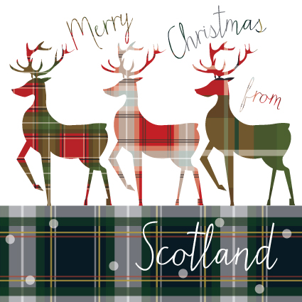Tartan Stags from Scotland Christmas Card #0: s p553 i6 w425